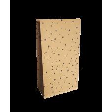 Blokbodemzak kraft met dots