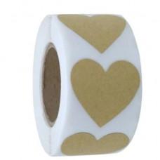 Sticker hart beige