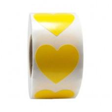 Sticker hart geel