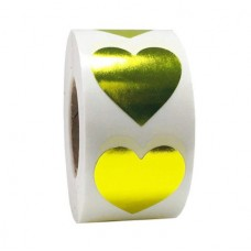 Sticker hart goud