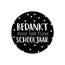Sticker bedankt schooljaar