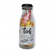 Fles label toffee
