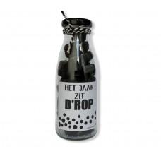 Fles label drop