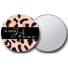 Juf panter roze spiegel