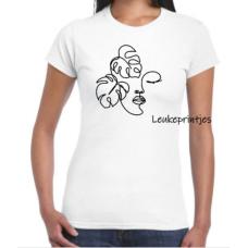 T-Shirt gezicht blad