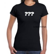 T-shirt vraagtekens
