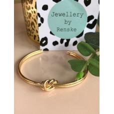 Armband goud knoop