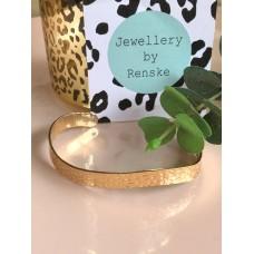 Armband goud panterprint