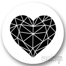 Sticker Geo hart groot