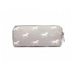 Etui paard grijs