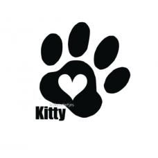 Kattenpoot met naam